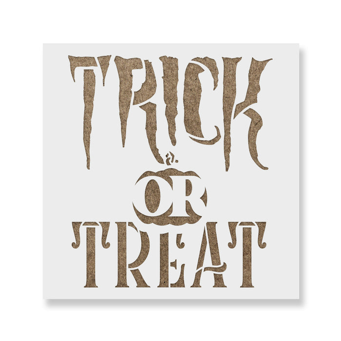 Spooky Trick Or Treat Stencil