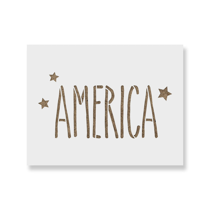 Starry America USA Independence Stencil
