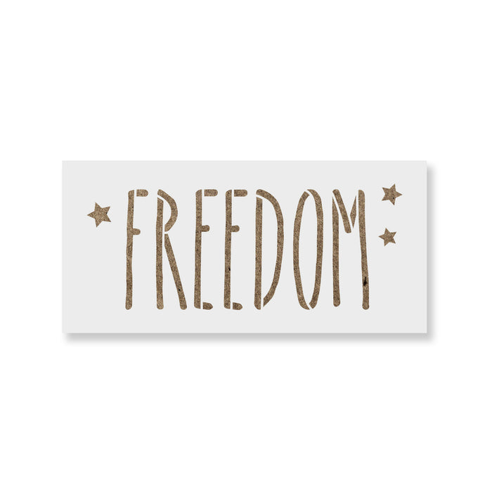 Starry Freedom Independence Stencil
