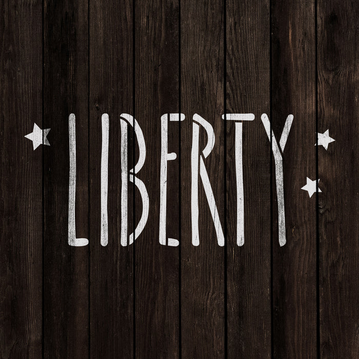 Starry Liberty Independence Stencil