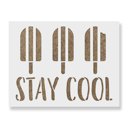 Stay Cool Popsicles Stencil