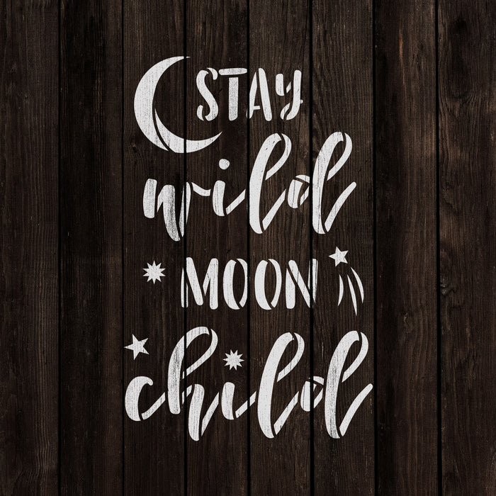 Stay Wild Moon Child Stencil