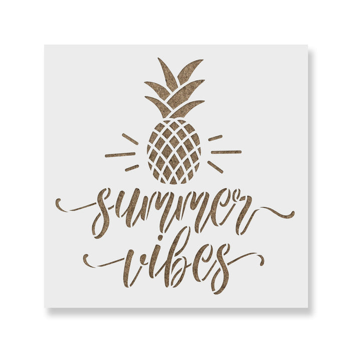 Summer Vibes Pineapple Stencil