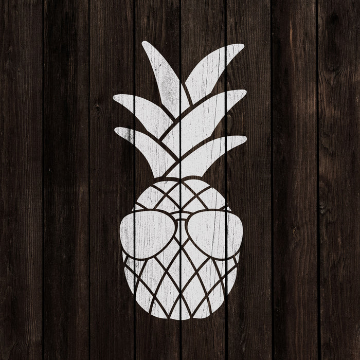 Sunglasses Pineapple Stencil