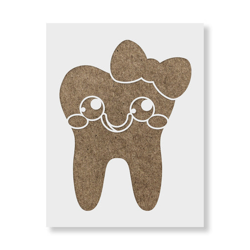 Tooth with Bow Stencil