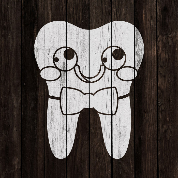 Tooth with Bowtie Stencil
