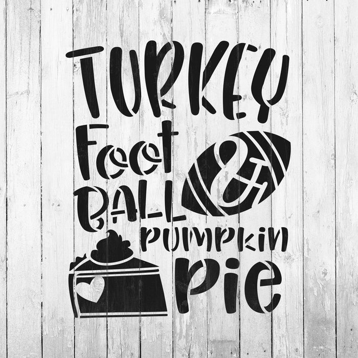Turkey Football Pie Stencil