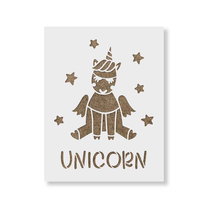 Unicorn With Stars Stencil