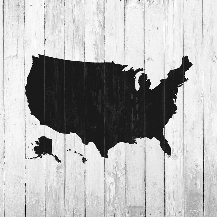 United States Map Stencil