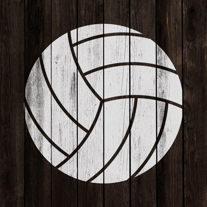 Volleyball Stencil