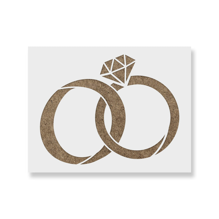 Wedding Rings Stencil