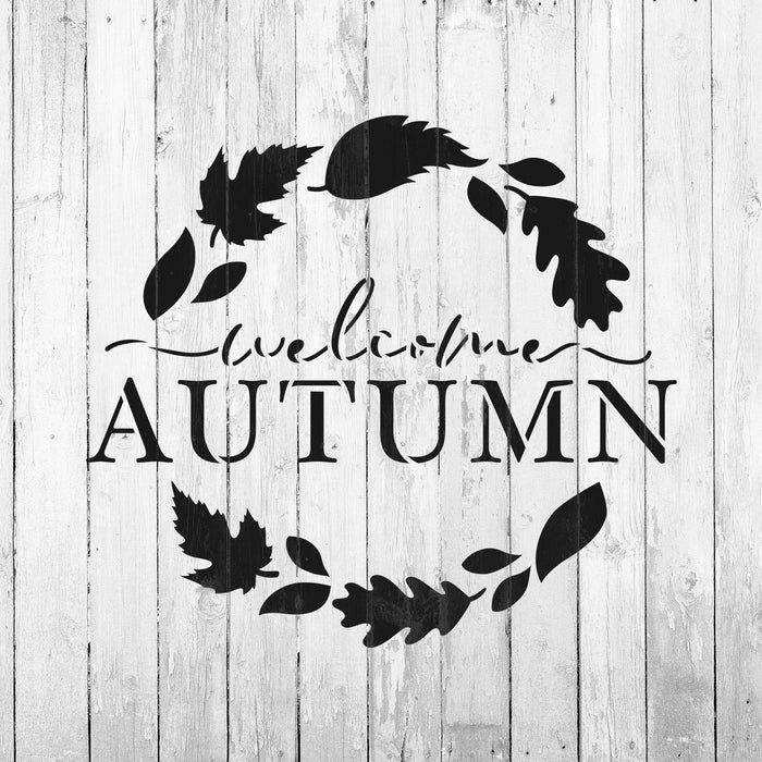 Welcome Autumn Stencil