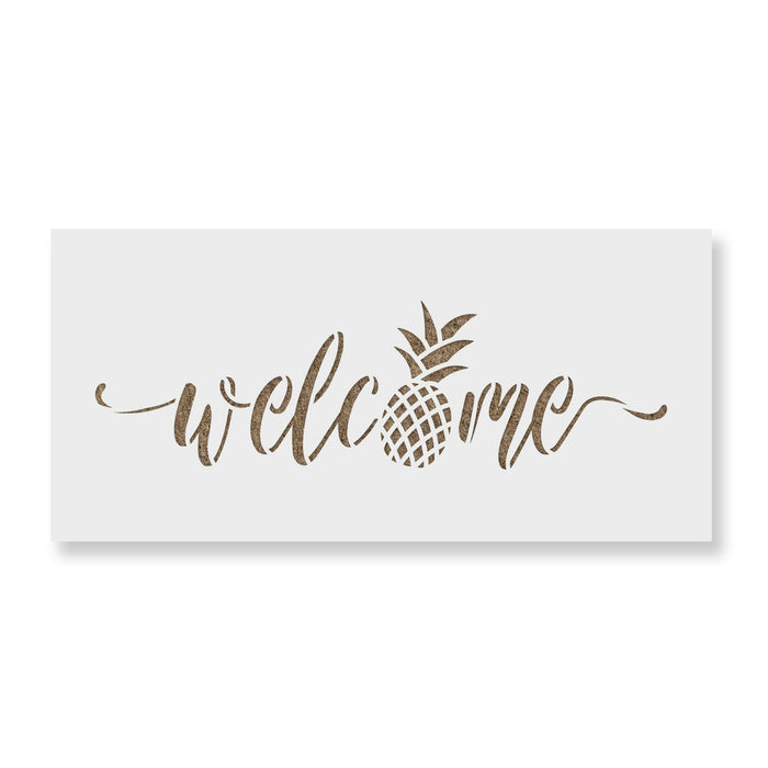 Welcome Pineapple Stencil