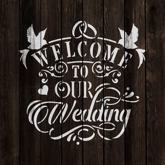 Welcome to Our Wedding Stencil