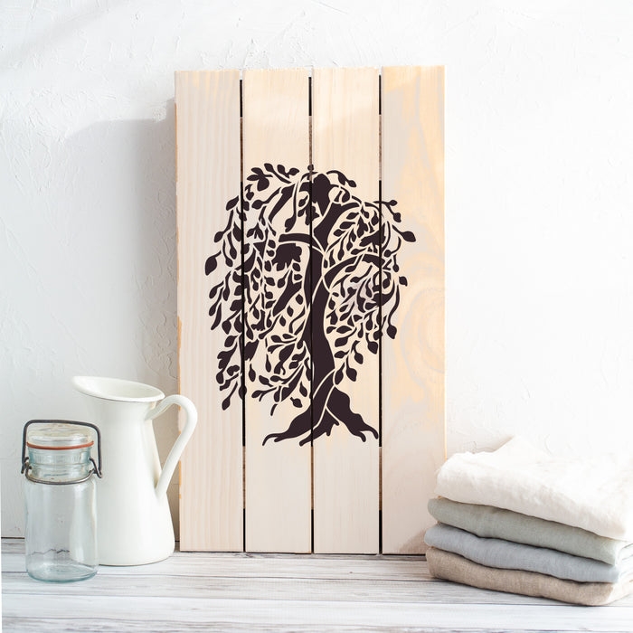 Willow Tree Stencil