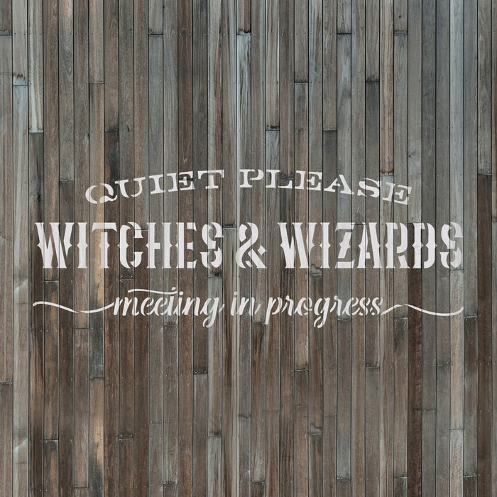Witches And Wizards Meeting Stencil