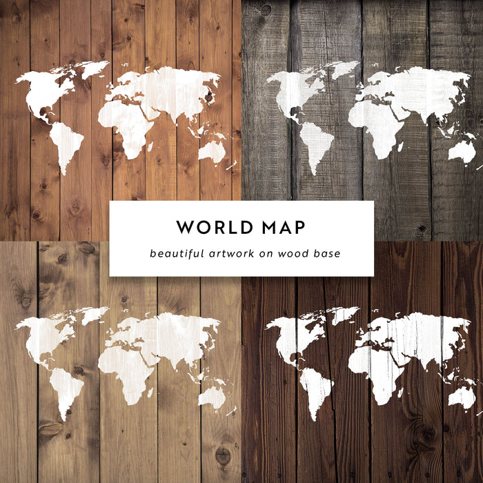 World Map Stencil in Small & Large Sizes - Extremely Detailed Design ...