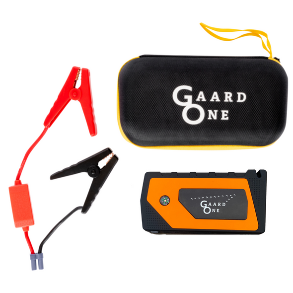 Orange portable car starter