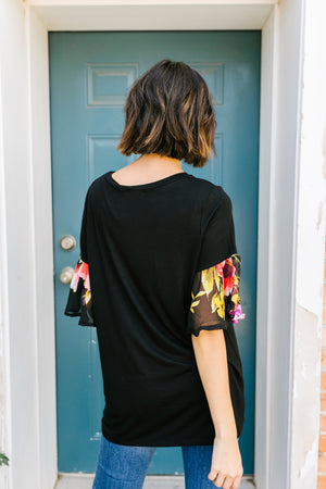 Sleeve Your Mark Black Blouse