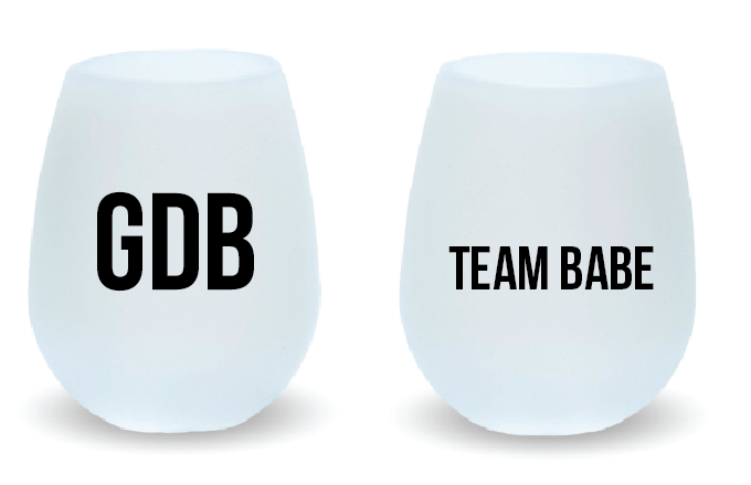 TEAM BABE Silicone Wine Glass