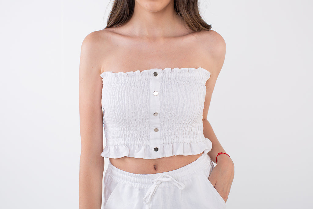 JESSIE CROP in White