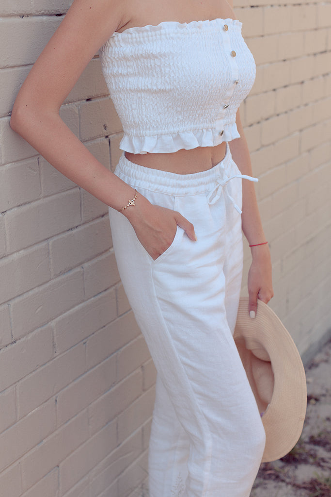 JESSIE PANTS in White