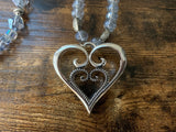 "Heart within a Heart 30"" Necklace"
