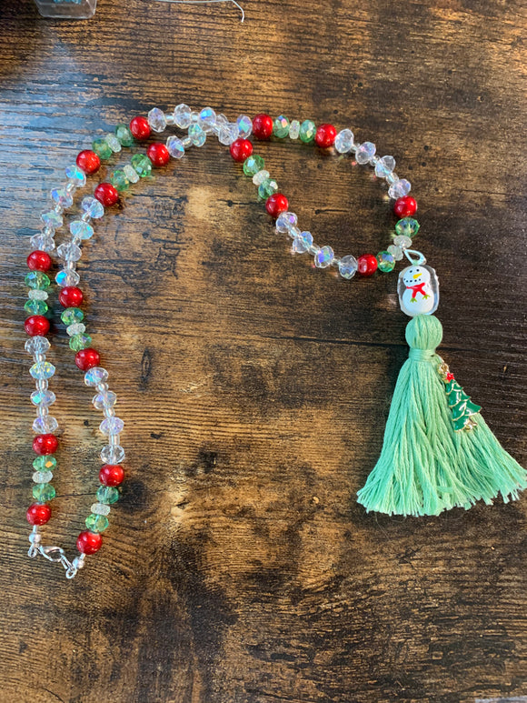#55 Snowman Greetings Hybrid Mala
