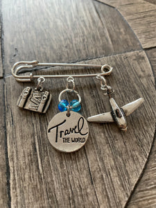 Travel the World Brooch
