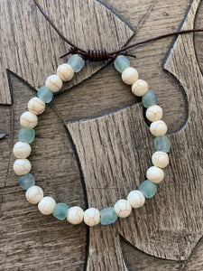 Ma Kai: Natural Stone and Beach Glass Men's Bracelet