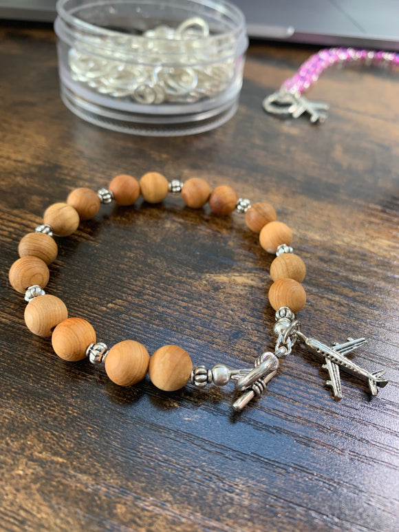F07 - Sandlewood Skies F.A.S.T. Bracelet with airplane charm