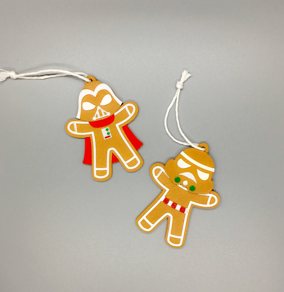 Dark Side Gingerbread ornaments