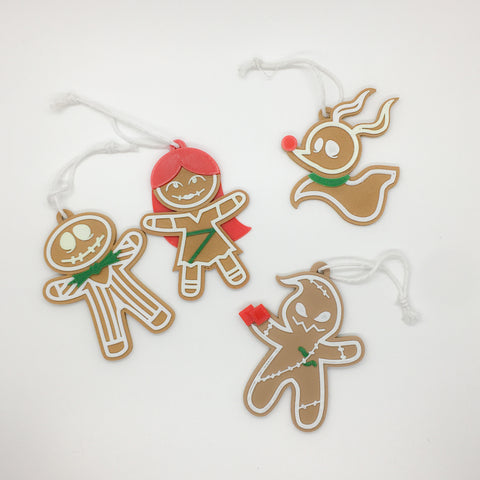 Nightmare Gingerbread ornaments