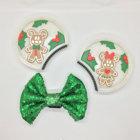 Interchangeable Gingerbread Illuminated ears