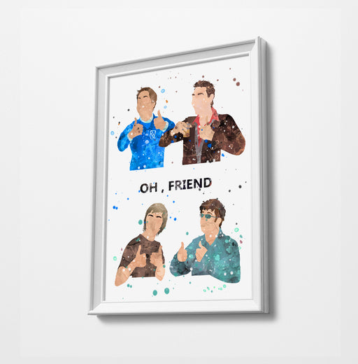 Inbetweeners - Watercolor Art Print
