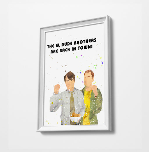 Peep Show - Watercolor Art  Print