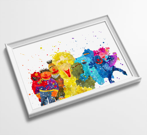 Sesame St - Watercolor Art Print