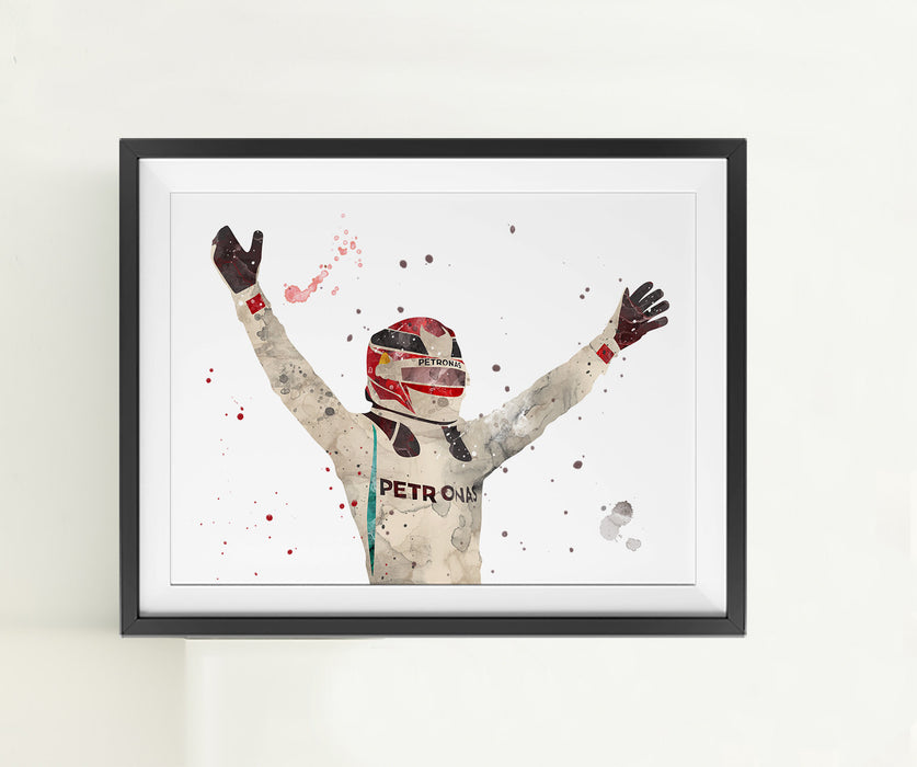 Lewis | Minimalist Watercolor Art Print Poster Gift Idea For Him Or Her | F1