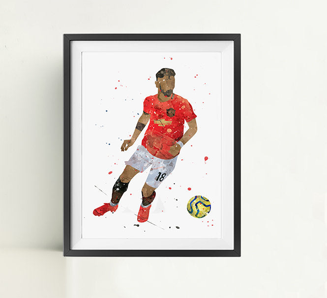 Bruno | Minimalist Watercolor Art Print Poster Gift Idea For Him Or Her | Football | Soccer