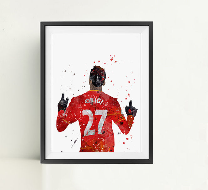 Football Minimalist Watercolor Art Print Poster Gift Idea For Him Or Her | Football | Soccer