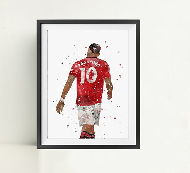 Marcus | Minimalist Watercolor Art Print Poster Gift Idea For Him Or Her | Football | Soccer
