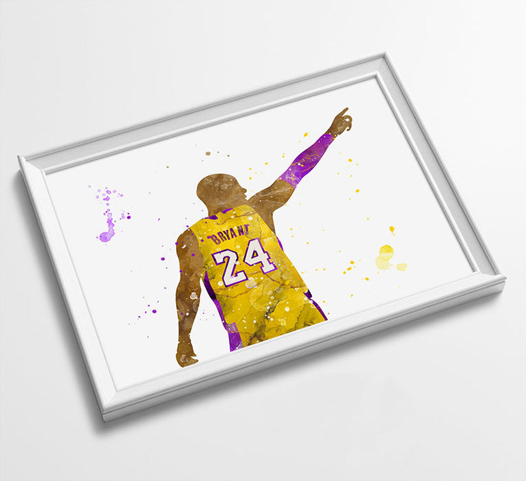 Minimalist Watercolor Art Print Poster Gift Idea For Him Or Her | Basketball Print Poster Art