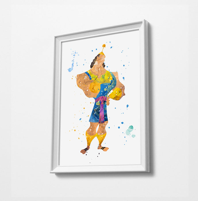 Emperors New Groove Minimalist Watercolor Art Print Poster Gift Idea For Him Or Her | Movie Poster Print Artwork
