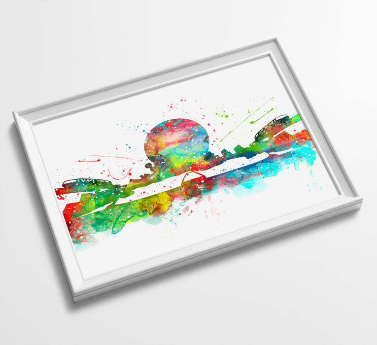 Epcot Disneyland | Minimalist Watercolor Art Print Poster Gift Idea For Him Or Her |