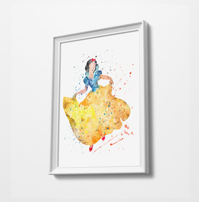 Snow White | Disney Princess Prints | Minimalist Watercolor Art Print Poster Gift Idea For Him Or Her | Nursery Art |