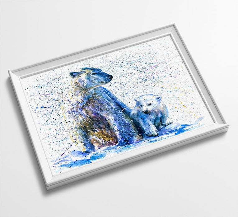 Polar Bear Animal Minimalist Watercolor Art Print Poster Gift Idea For Him Or Her Music Poster