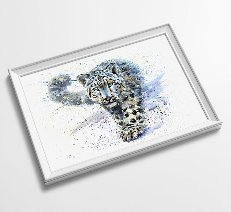 BIG CAT Animal Minimalist Watercolor Art Print Poster Gift Idea For Him Or Her Music Poster