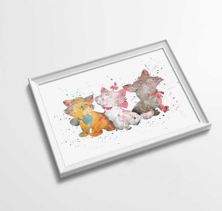 The Aristocats Disney Princess Prints | Minimalist Watercolor Art Print Poster Gift Idea For Him Or Her | Nursery Art |