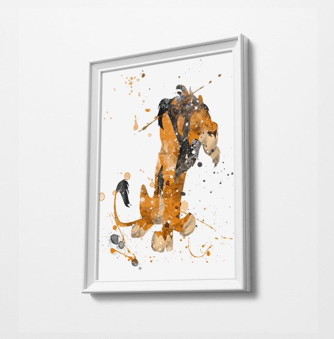 Scar | Minimalist Watercolor Art Print Poster Gift Idea For Him Or Her | Nursery Art | Gift for Baby |