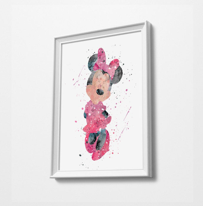 Minnie | Minimalist Watercolor Art Print Poster Gift Idea For Him Or Her | Nursery Art | Gift for Baby |